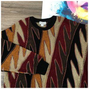 Vtg TUNDRA Hip Hop Coogi Style Sweater Pullover